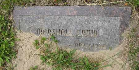 CROW, MARSHALL - Dodge County, Nebraska | MARSHALL CROW - Nebraska Gravestone Photos
