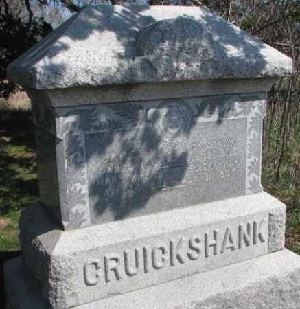 CRUICKSHANK, JAMES M. - Dodge County, Nebraska | JAMES M. CRUICKSHANK - Nebraska Gravestone Photos
