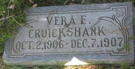 CRUICKSHANK, VERA E. - Dodge County, Nebraska | VERA E. CRUICKSHANK - Nebraska Gravestone Photos