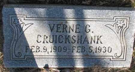 CRUICKSHANK, VERNE G. - Dodge County, Nebraska | VERNE G. CRUICKSHANK - Nebraska Gravestone Photos