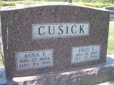 CUSICK, ANNA F. - Dodge County, Nebraska | ANNA F. CUSICK - Nebraska Gravestone Photos