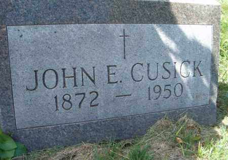 CUSICK, JOHN E - Dodge County, Nebraska | JOHN E CUSICK - Nebraska Gravestone Photos
