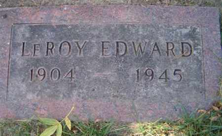 CUSICK, LEROY EDWARD - Dodge County, Nebraska | LEROY EDWARD CUSICK - Nebraska Gravestone Photos