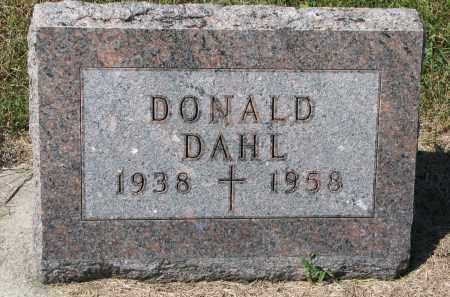 DAHL, DONALD - Dodge County, Nebraska | DONALD DAHL - Nebraska Gravestone Photos