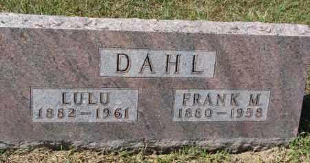 DAHL, LULU - Dodge County, Nebraska | LULU DAHL - Nebraska Gravestone Photos