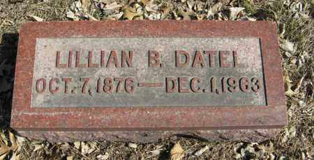 DATEL, LILLIAN B. - Dodge County, Nebraska | LILLIAN B. DATEL - Nebraska Gravestone Photos