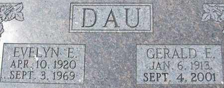 DAU, EVELYN E. - Dodge County, Nebraska | EVELYN E. DAU - Nebraska Gravestone Photos