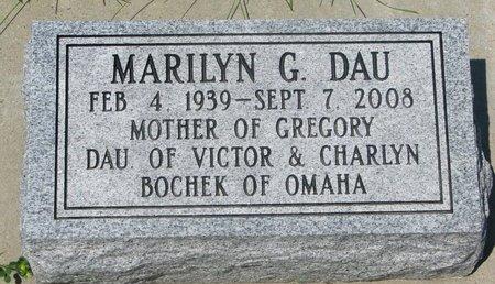 DAU, MARILYN G. - Dodge County, Nebraska   MARILYN G. DAU - Nebraska Gravestone Photos