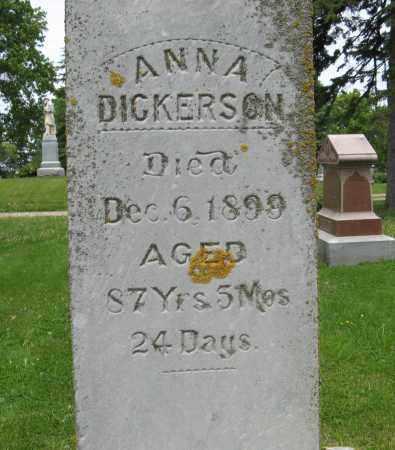 DICKERSON, ANNA (CLOSE UP) - Dodge County, Nebraska | ANNA (CLOSE UP) DICKERSON - Nebraska Gravestone Photos