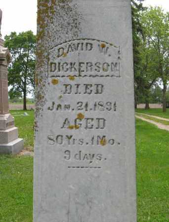 DICKERSON, DAVID W. (CLOSE UP) - Dodge County, Nebraska | DAVID W. (CLOSE UP) DICKERSON - Nebraska Gravestone Photos