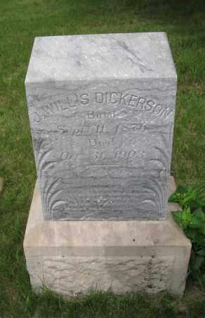 DICKERSON, J. WILLIS - Dodge County, Nebraska   J. WILLIS DICKERSON - Nebraska Gravestone Photos
