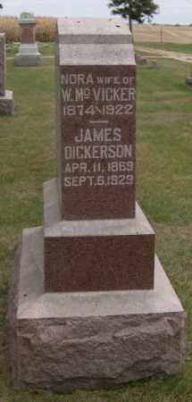 DICKERSON, JAMES - Dodge County, Nebraska | JAMES DICKERSON - Nebraska Gravestone Photos