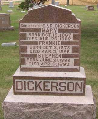DICKERSON, MARY - Dodge County, Nebraska   MARY DICKERSON - Nebraska Gravestone Photos