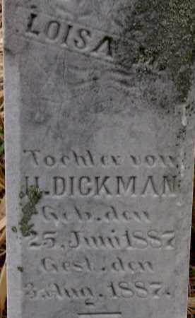 DICKMAN, LOISA - Dodge County, Nebraska   LOISA DICKMAN - Nebraska Gravestone Photos