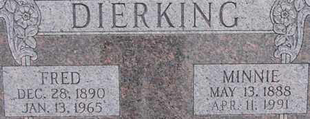DIERKING, MINNIE - Dodge County, Nebraska | MINNIE DIERKING - Nebraska Gravestone Photos