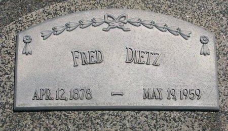 DIETZ, FRED - Dodge County, Nebraska | FRED DIETZ - Nebraska Gravestone Photos