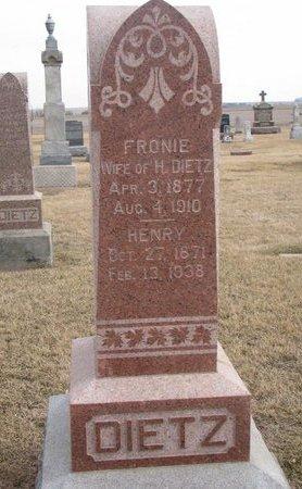 DIETZ, FRONIE - Dodge County, Nebraska | FRONIE DIETZ - Nebraska Gravestone Photos