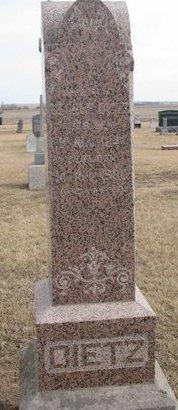 DIETZ, GEORGE - Dodge County, Nebraska | GEORGE DIETZ - Nebraska Gravestone Photos