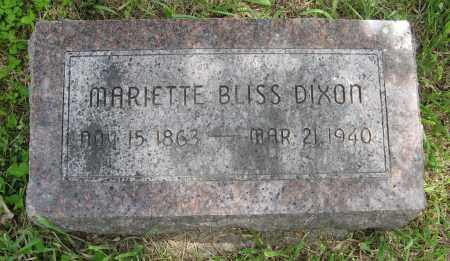 DIXON, MARIETTE - Dodge County, Nebraska   MARIETTE DIXON - Nebraska Gravestone Photos