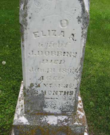 DOBBINS, ELIZA A. (CLOSE UP) - Dodge County, Nebraska | ELIZA A. (CLOSE UP) DOBBINS - Nebraska Gravestone Photos