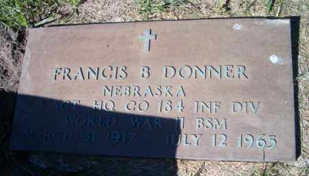 DONNER, FRANCIS B (MILITARY MARKER) - Dodge County, Nebraska | FRANCIS B (MILITARY MARKER) DONNER - Nebraska Gravestone Photos