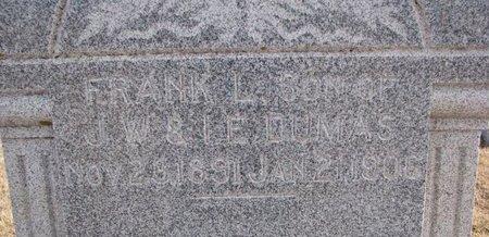 DUMAS, FRANK L. (CLOSE UP) - Dodge County, Nebraska | FRANK L. (CLOSE UP) DUMAS - Nebraska Gravestone Photos