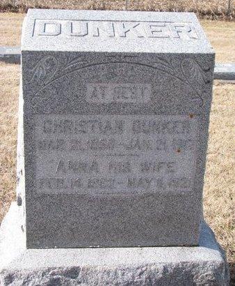 DUNKER, ANNA - Dodge County, Nebraska | ANNA DUNKER - Nebraska Gravestone Photos