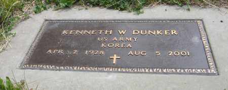 DUNKER, KENNETH W. (MILITARY MARKER) - Dodge County, Nebraska   KENNETH W. (MILITARY MARKER) DUNKER - Nebraska Gravestone Photos