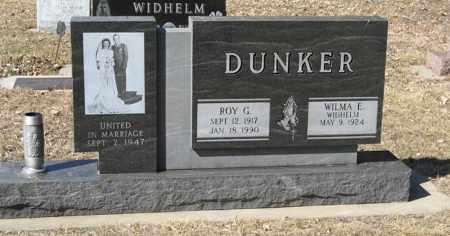 DUNKER, WILMA E. - Dodge County, Nebraska | WILMA E. DUNKER - Nebraska Gravestone Photos