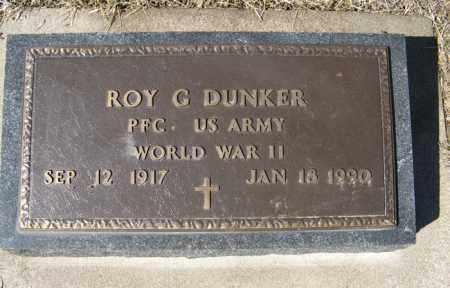 DUNKER, ROY G.  (MILITARY MARKER) - Dodge County, Nebraska | ROY G.  (MILITARY MARKER) DUNKER - Nebraska Gravestone Photos