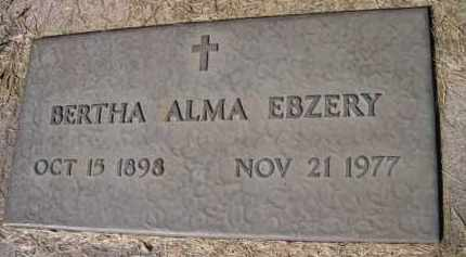 EBZERY, BERTHA ALMA - Dodge County, Nebraska | BERTHA ALMA EBZERY - Nebraska Gravestone Photos