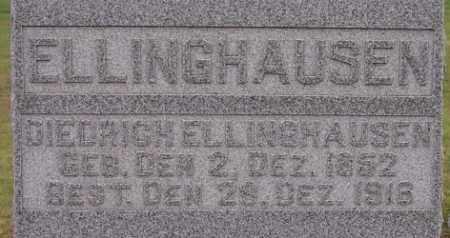ELLINGHAUSEN, DIEDRICH - Dodge County, Nebraska | DIEDRICH ELLINGHAUSEN - Nebraska Gravestone Photos