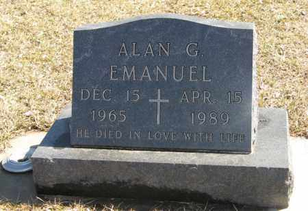 EMANUEL, ALAN G. - Dodge County, Nebraska | ALAN G. EMANUEL - Nebraska Gravestone Photos