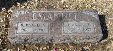 EMANUEL, BERNARD A. - Dodge County, Nebraska   BERNARD A. EMANUEL - Nebraska Gravestone Photos