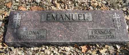EMANUEL, FRANCIS - Dodge County, Nebraska | FRANCIS EMANUEL - Nebraska Gravestone Photos