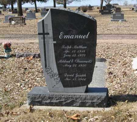 BAUMERT EMANUEL, MILDRED E. - Dodge County, Nebraska | MILDRED E. BAUMERT EMANUEL - Nebraska Gravestone Photos