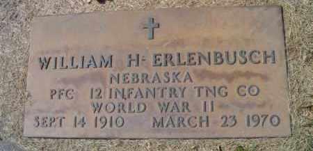 ERLENBUSCH, WILLIAM H. - Dodge County, Nebraska | WILLIAM H. ERLENBUSCH - Nebraska Gravestone Photos