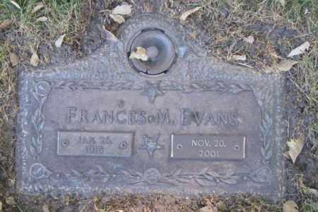 EVANS, FRANCES M. - Dodge County, Nebraska | FRANCES M. EVANS - Nebraska Gravestone Photos
