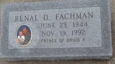 FACHMAN, RENAL D. - Dodge County, Nebraska | RENAL D. FACHMAN - Nebraska Gravestone Photos