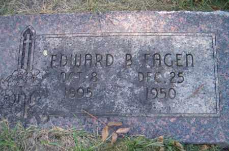 FAGEN, EDWARD B - Dodge County, Nebraska | EDWARD B FAGEN - Nebraska Gravestone Photos