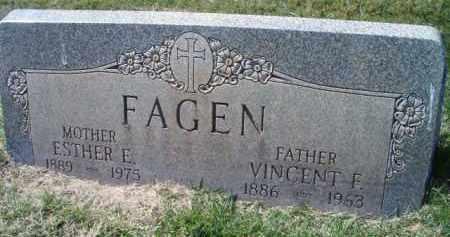 FAGEN, VINCENT F - Dodge County, Nebraska | VINCENT F FAGEN - Nebraska Gravestone Photos