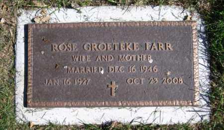 GROETEKE FARR, ROSE - Dodge County, Nebraska | ROSE GROETEKE FARR - Nebraska Gravestone Photos