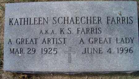 FARRIS, KATHLEEN - Dodge County, Nebraska | KATHLEEN FARRIS - Nebraska Gravestone Photos