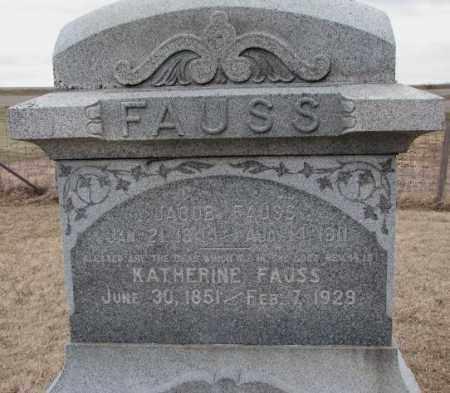 FAUSS, KATHERINE - Dodge County, Nebraska | KATHERINE FAUSS - Nebraska Gravestone Photos