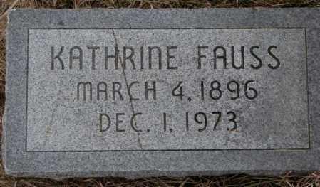 FAUSS, KATHRINE - Dodge County, Nebraska | KATHRINE FAUSS - Nebraska Gravestone Photos