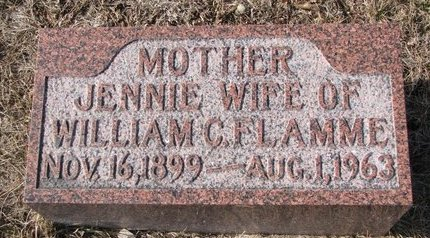 HULL FLAMME, JENNIE - Dodge County, Nebraska | JENNIE HULL FLAMME - Nebraska Gravestone Photos