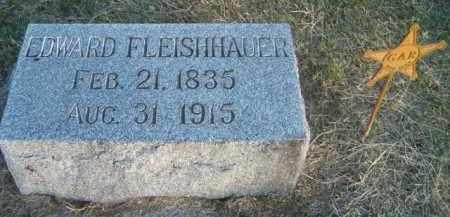 FLEISHHAUER, EDWARD - Dodge County, Nebraska   EDWARD FLEISHHAUER - Nebraska Gravestone Photos