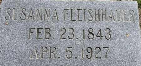 FLEISHHAUER, SUSANNA - Dodge County, Nebraska | SUSANNA FLEISHHAUER - Nebraska Gravestone Photos