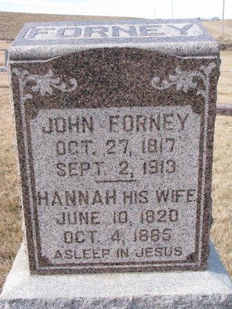 FORNEY, HANNAH - Dodge County, Nebraska | HANNAH FORNEY - Nebraska Gravestone Photos