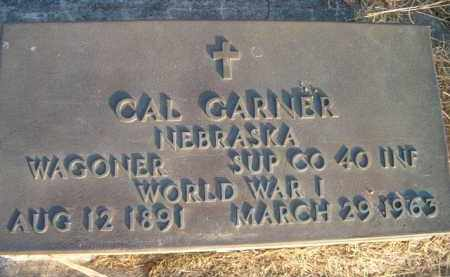 GARNER, CAL (MILITARY MARKER) - Dodge County, Nebraska | CAL (MILITARY MARKER) GARNER - Nebraska Gravestone Photos